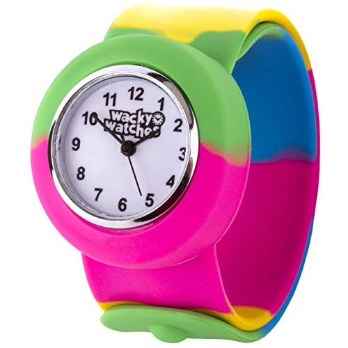Popwatch Slapwatch Fast Fit Kinder Armbanduhr mit Silikonarmband, die Uhr lernen