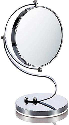 Miroir JT- Bureau Princesse Grand HD Double Face Rond Creative Makeup Portable Femmes Petit et Pratique