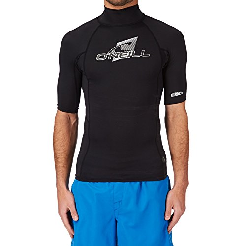 O';Neill Skins Kurzarm Rash Vest Top mit Rollkragen Schwarz - UV-Sonnenschutz und SPF-Eigenschaften