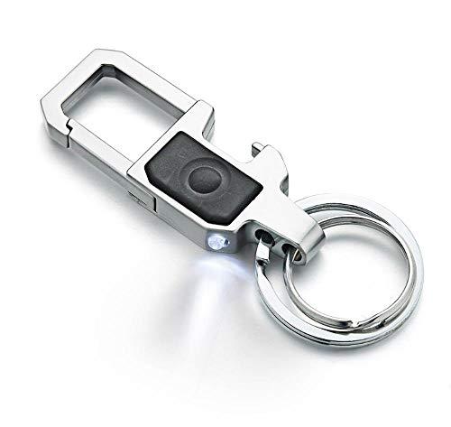 Belettering sleutelhanger LED-lampjes Lamp bieropener Fles graveren sleutelhanger Ring heren auto