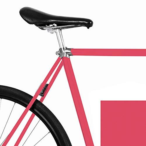 MOOXIBIKE Berry Pink metallic Matt Fahrradfolie für Rennrad, MTB, Trekkingrad, Fixie, Hollandrad, Citybike, Scooter, Rollator für circa 13 cm Rahmenumfang