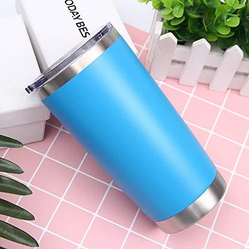 Xiaobing 20oz stainless steel vacuum flask, outdoor portable car cup, vacuum ice cup, coffee cup -blue-20oz-591ml-G1192