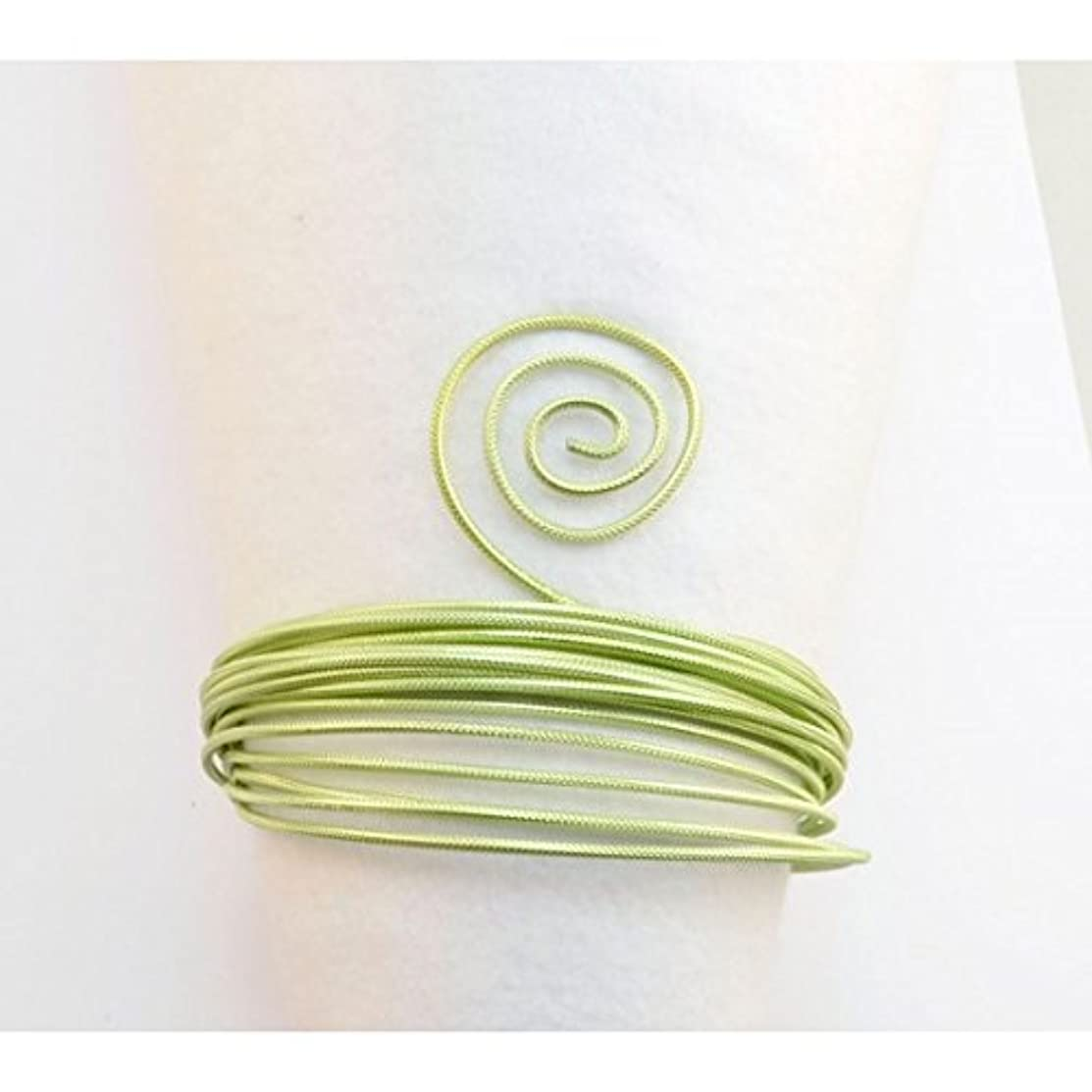 Vaessen Creative Embossed Round Aluminium Wire, Mint Green, One Size