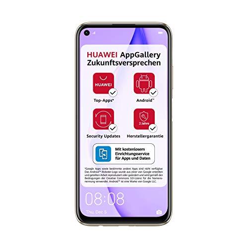 HUAWEI P40 lite Dual-SIM Smartphone Bundle (16 cm (6,4 Zoll), 128 GB interner Speicher, Android 10.0 AOSP ohne Google Play Store, EMUI 10.0.1) sakura pink [Exklusiv +5EUR Amazon Gutschein]
