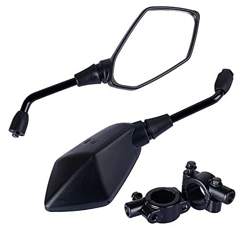 Yizhet Espejo Retrovisor de Motocicleta,1 par Universal Diamante Reflector Pentagonal Espejo Lateral Retrovisor para Motocicletas y Scooters, Bicicletas MTB