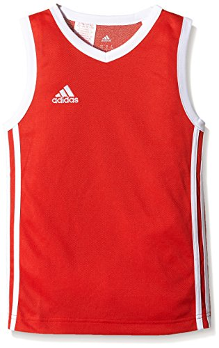 adidas Kinder Trikot Commander Jersey Youth, Rot/Weiß, 128