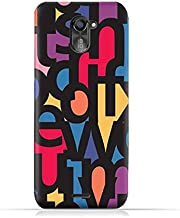 infinix Hot 4 Pro X556 TPU Silicone Protective Case with Abstract Font Seamless Pattern