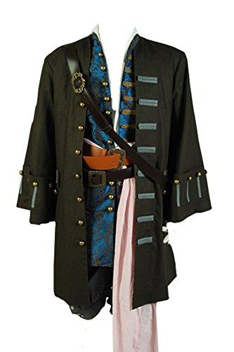 Daiendi Juego de disfraz de Piratas del Caribe 4: Jack Sparrow para adulto, talla europea