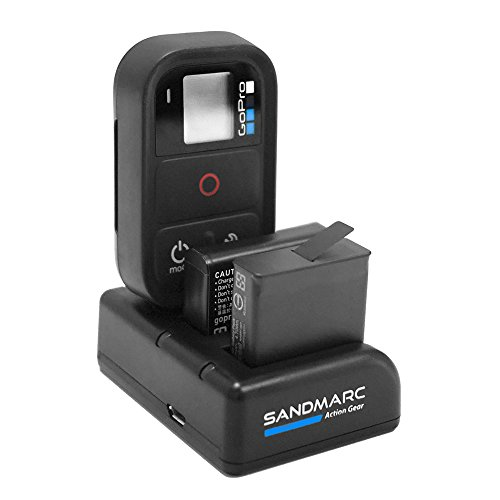 SANDMARC Procharge: Triple Charger for GoPro Hero 8, 7, 6, 5, 4 and Smart (WiFi) Remote