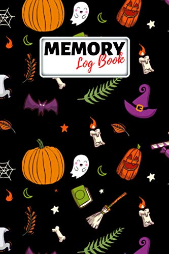 Memory Log Book Journal: Glamping Keepsake Memory Book with Prompts to Write in for Travel Adventure Notes, Record Memories Every Day of the Year! - Halloween Pumpkin Pattern Cover Diary