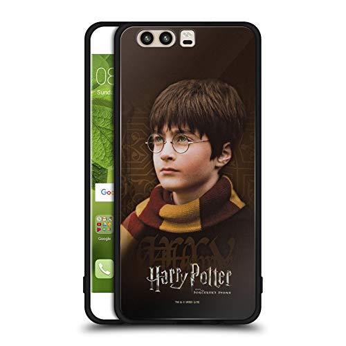 Officiële Harry Potter Sjaal Steen tovenaar II Zwarte Hybrid Glas Back Case Compatibel voor Huawei P10