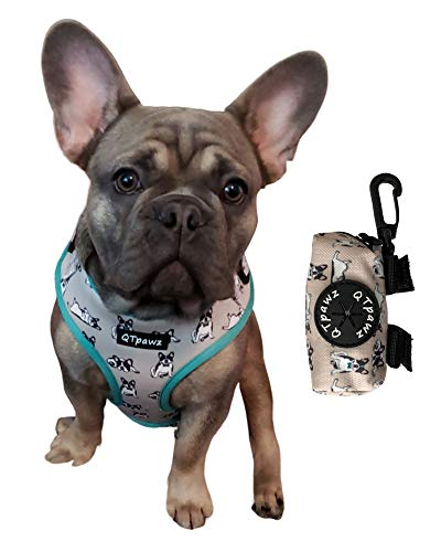 QTpawz French Bull Dog Vest Harness (Medium)