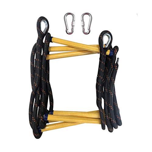 JUYHTY Emergency Fire Strickleiter, verschleißfeste verstärkte rutschfeste weiche Leiter, geeignet für Kinder und Erwachsene,15m/48ft