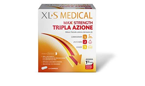 XL-S MEDICAL Max Strength Tripla Azione Trattamento Dimagrante Forte, Pastiglie Dietetiche per una Gestione Ottimale del Peso, 120 Compresse