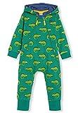 kIDio Bio-Baumwolle Kuschelanzug mit Kapuzen - Baby Mädchen Junge (0-2 Jahre) (6M (3-6 Monate), Grün Eidechse)