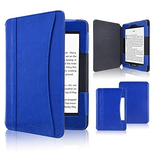 ACcolor Folio Hülle für Kindle Paperwhite (alle Generationen 2012-2018) - PU Leder Schutzhülle Tasche mit Auto Sleep/Wake Funktion für Amazon Kindle Paperwhite eReader, Königsblau