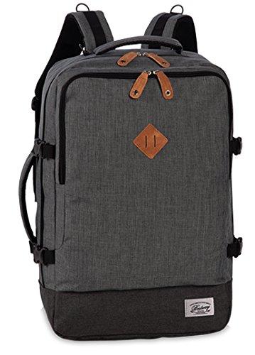 Reiserucksack Cabin Size Bordgepäck Reisetasche gepolstertes Laptop Fach Rucksack Melange Grau/Dunkelgrau