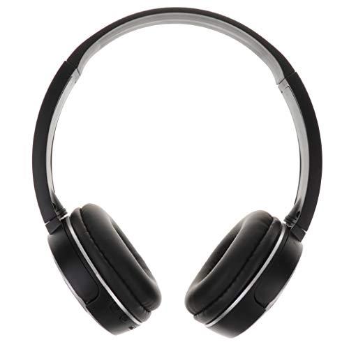 Cascos Bluetooth Inalámbrico de Diadema,Auriculares Cerrados con Micrófono,Audífono para Moviles, TV, PC con Bluetooth 5.0 para Deporte,Viaje - Blanco