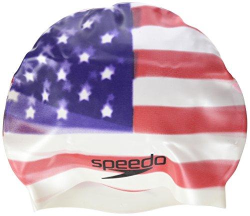 Speedo Usa Flag Uni, Cuffia Unisex Adulto, Rosso/Bianco/Blu, Taglia Unica