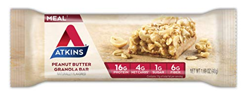 Atkins Protein-Rich Meal Bar, Peanut Butter Granola, 5 Count each pack, 8.4 Ounce (Pack of 1)