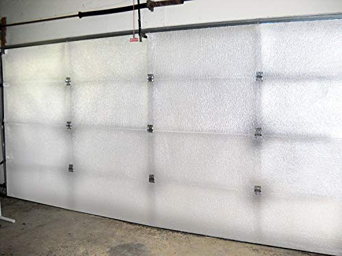 Ant NASA Tech White Reflective Foam Core 2 Car Garage Door Insulation Kit 18FT (Wide) x Xtra (HIGH 6 Panel) R Value 8 Made in USA New and Improved Heavy Duty Double Sided Tape 6 Panel 24 Inches