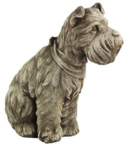 Schnauzer Dog Home and Garden Statues Puppy Cement Sculpture Concrete Doggy Figure