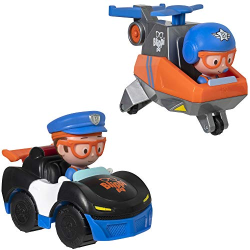 Blippi Mini Vehicles - Police Car and Helicopter