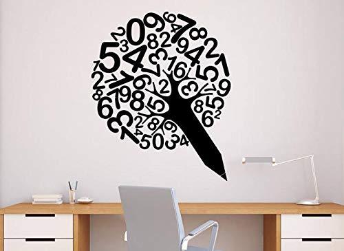 CECILIAPATER - Pegatinas de Vinilo para Pared, diseño de árbol con números de lápiz, para la Escuela, la Oficina, el hogar, el hogar, el hogar, el hogar, el Colegio (4 n)