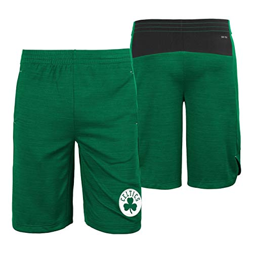 Outerstuff Boston Celtics Youth NBA Performance Free Throw Shorts - Green, Large