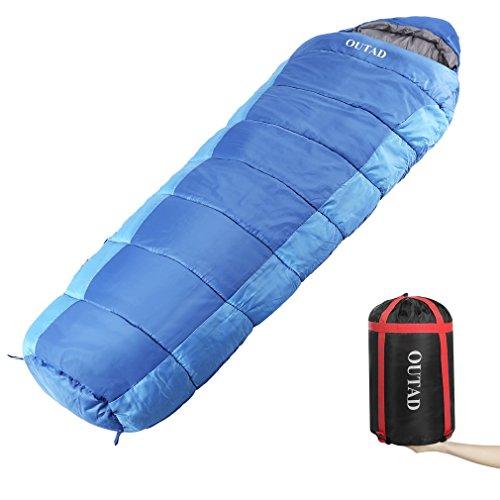 Sacco a Pelo Esterno **40-50 Gradi** Portatile e Impermeabile per Campeggio Montagno Mare e Trekking