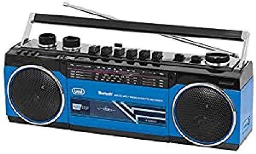 Trevi RR 501 BT estéreo Boombox Altavoz portátil Bluetooth, USB, SD, MP3, Azul