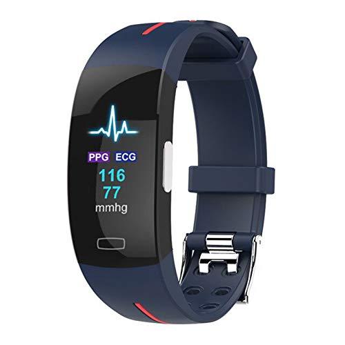 QKA Pulsera Inteligente, Presión Arterial ECG Monitor De Ritmo Cardíaco Pulsera, Actividad Fitness Tracker, Temperatura Corporal Pulsera Electrónica,I