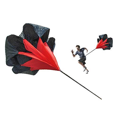 Tunturi-Fitness Functional Paracaídas de Velocidad, Unisex Adulto, Negro, Talla Única