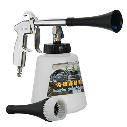 Moliies High Pressure Air Pulse Car Cleaning Gun with Brush Multifunctional Surface Interior Exterior Cleaning Kit EU Type
