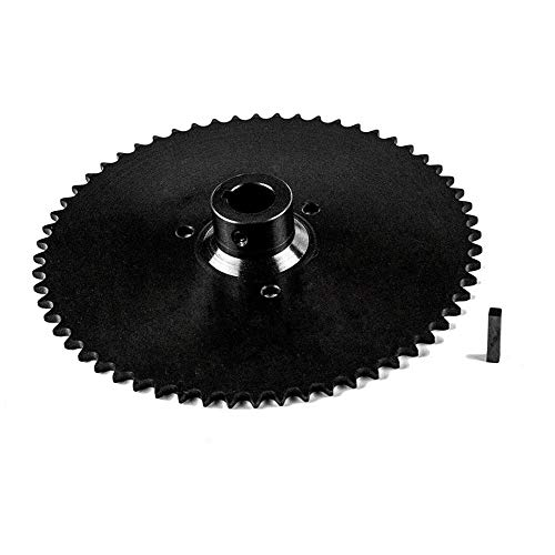 Jeremywell 40B60T 1' Bore Go Kart Live Axle Sprocket 60 Teeth for 40 41 420 Roller Chain with 1/4' Key Included