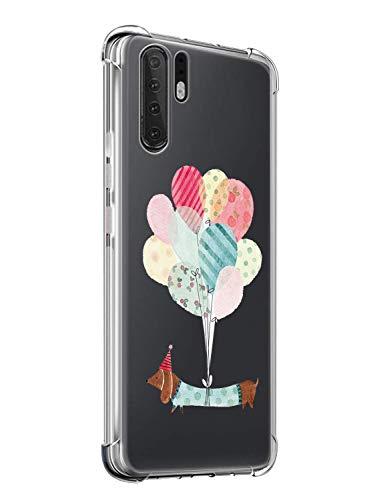 Suhctup Coque Compatible pour Huawei Mate 30 Lite,Ultra-Mince Souple Gel Coque Souple Soft Silicone [Shock-Absorption] AIR Cushion Protection Coin Housse Anti Choc intégrale Étui Housse
