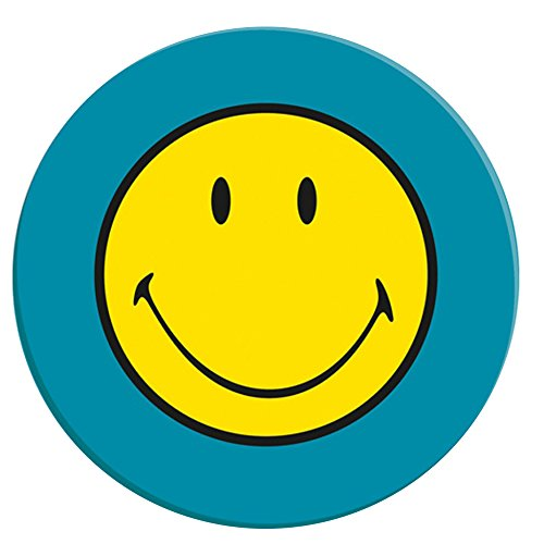 zak! Speiseteller Smiley Ø25cm in blau, Melamin, 25 x 25 x 1.5 cm