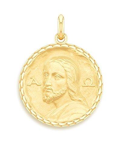 Cristo de las catacumbas-Medalla religiosa-oro amarillo 9quilates-Diámetro: 17mm-www.diamants-perles.com