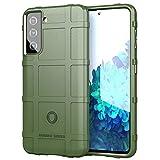 BAIYUNLONG Funda Protectora, para Samsung Galaxy S21 5G Cobertura Completa TPU a Prueba de choques (Color : Army Green)