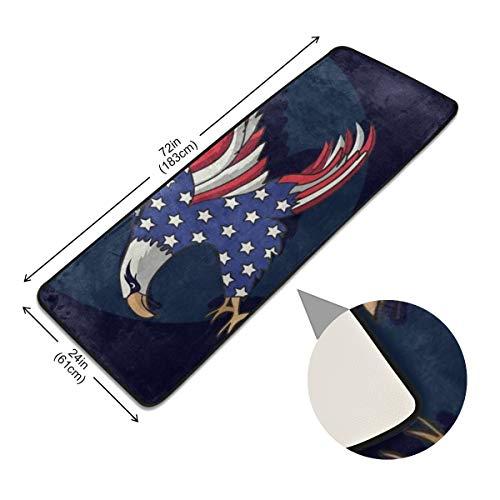 XiangHeFu tapijt-mat-vloer-antislip-zone tapijt-deurmat Amerikaanse vlaggen-stalen ingang