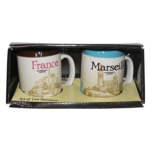 Starbucks Espresso Set Demitasse Marseille Frankreich/France Kaffee Espresso Tasse