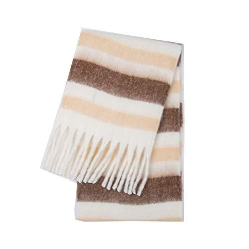 Memefood Bufanda de punto para mujer, estilo simple, bufanda de punto, mantón suave, 250 x 35 cm