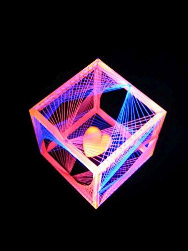 PSYWORK - Guirnalda de luces en 3D (40 cm), diseño de cubos