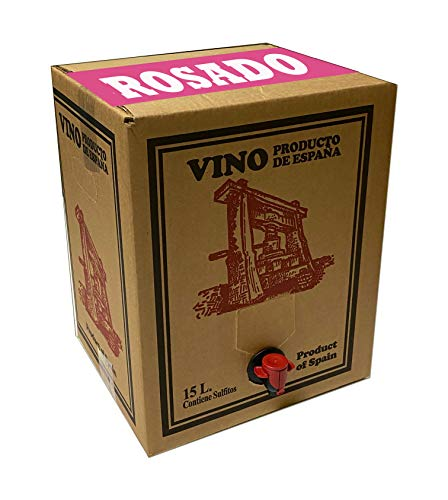 Bag in Box 15L Vino Rosado Joven Bodega Los Corzos (Equivalente a 20 Botellas de 750 ml)