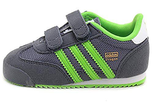 adidas Dragon CF I Infant Kids Shoes Onix/Green/White M25203 (SIZE: 4K)