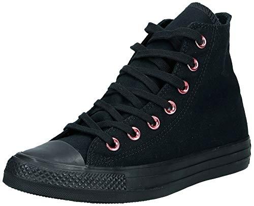 Converse Chucks 163286C Schwarz Chuck Taylor All Star OX Black Rhubarb Black, Groesse:36 EU / 3.5 UK / 3.5 US / 22.5 cm