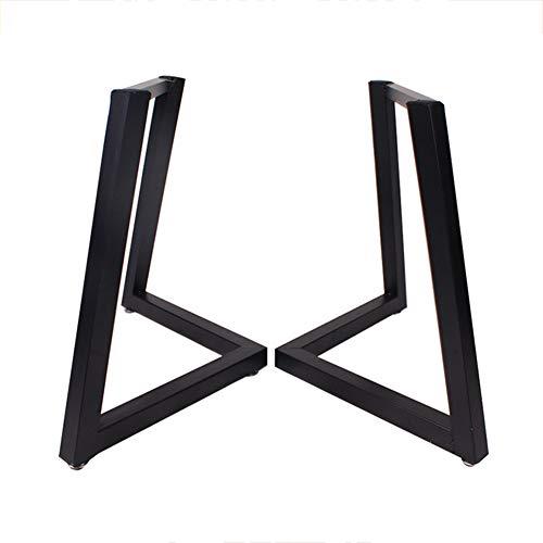YXW 2X Tischkufen Metall Tischbeine Industrielle Moderne Bankgestell, Schwarz, Tischbeine Esstisch, Schreibtisch, Couchtisch, Bank, Konferenztisch...