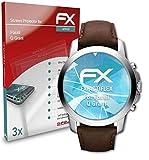 atFoliX Schutzfolie kompatibel mit Fossil Q Grant Folie, ultraklare & Flexible FX Bildschirmschutzfolie (3X)