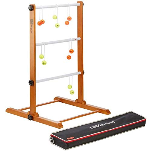 Ubergames Profi Twistladder Leitergolf Fluor Gelb Orange Echte-Golfbälle - Laddergolf Prof-set