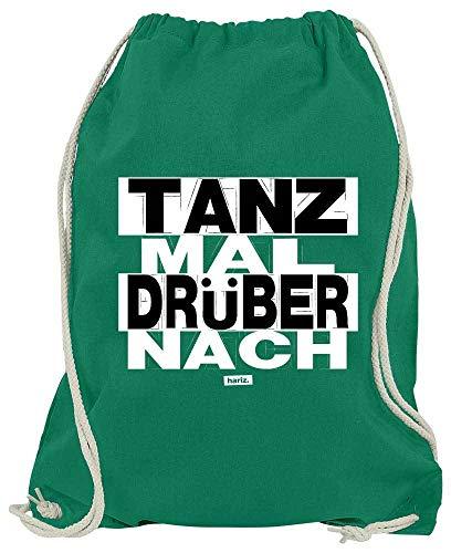 HARIZ Turnbeutel Tanz Mal Drüber Nach Sprüche Schwarz Weiß Plus Geschenkkarte Grün One Size